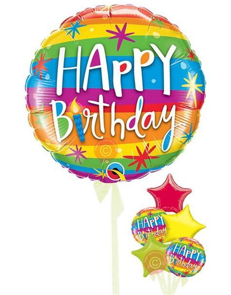 Cashback Anting Korea Rainbow Ke14605 happy birthday rainbow stripes balloons delivered inflated bloonaway