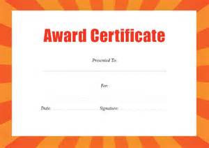 Formal Award Certificate Template by Doc 1040729 Template For Award Certificates Formal