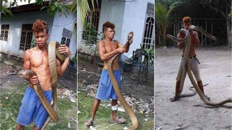 King Obi Dua Badan ingin rasakan ektrak kobra malah pria ini mendapat peristiwa mengerikan konfrontasi