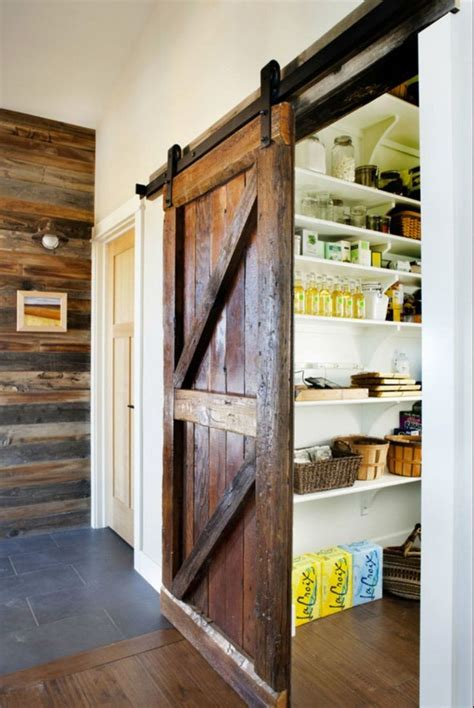 Look A Sliding Barn Door To The Pantry Kitchen Inspiration Barn Door For Kitchen