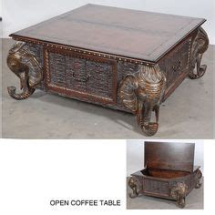 jaipur elephant festival coffee table carved teak elephant table four chairs aren t these