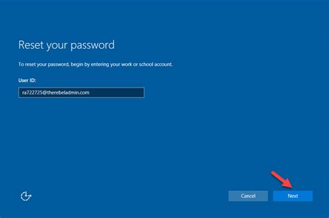 windows password reset self service self service password reset on azure ad joined windows 10