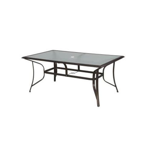 hton bay altamira rectangular patio dining table dy9976