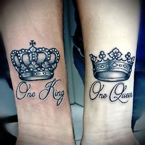 king tattoo on wrist 11 king and queen tattoos for couple