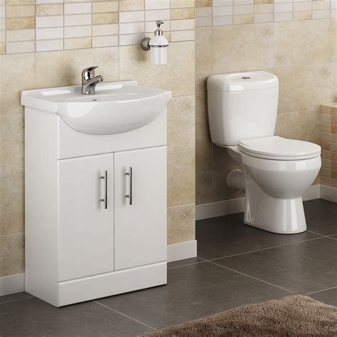 cloak room lyon high gloss white vanity unit cloakroom suite at plumbing uk