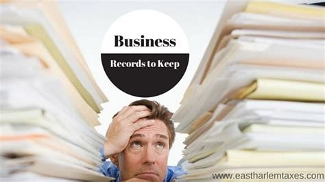 Business Records How Do I Keep Business Records East Harlem Tax Service
