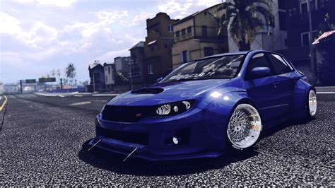 widebody wrx subaru wrx sti widebody gta5 mods com