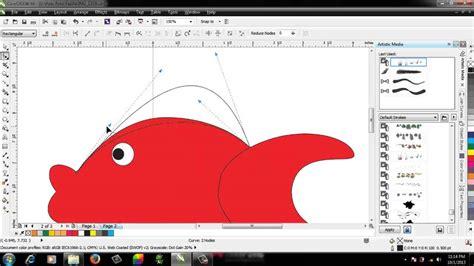 tutorial gambar kartun corel draw tutorial corel draw menggambar kartun ikan youtube