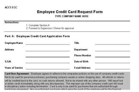 credit card purchase request form template procedures for small business checklist