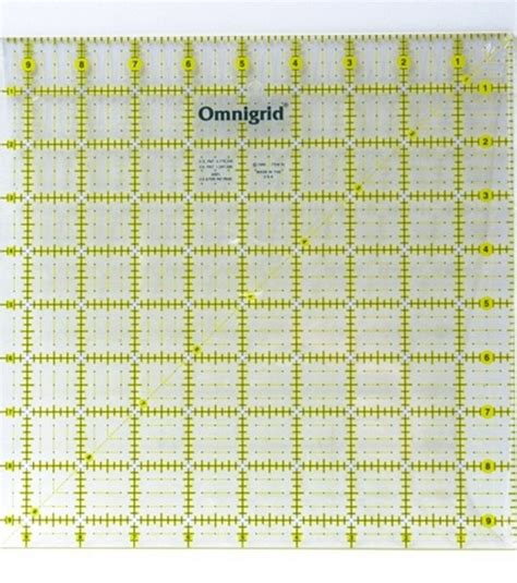 Omnigrid Quilting Rulers by Omnigrid Quilting Square 12 1 2 X12 1 2 Jo