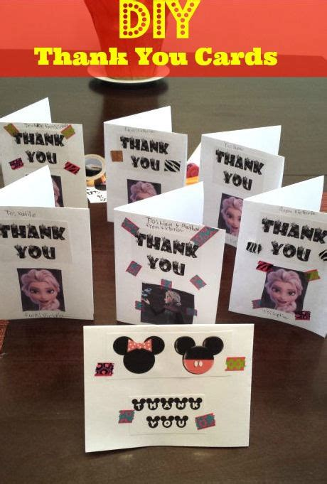 Do It Yourself Thank You Card Templates by Diy Thank You Cards Frozen Minnie Theme Free Printables