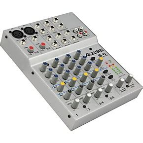 Mixer China 6 Channel alesis s 6 6 channel compact mixer musician s friend