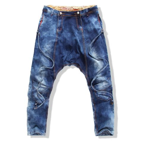 pattern making drop crotch pants 2015 new drop crotch jeans for men uomo baggy loose mens