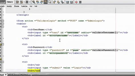 jsp template j2ee tutorial for beginners creating login page using jsp