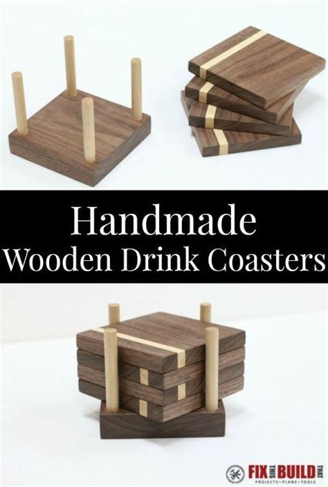 diy wooden drink coasters homemade woodworking plans