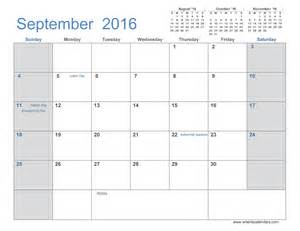 2016 monthly calendar template september 2016 calendar printable pdf calendar template 2016