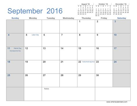 september 2016 calendar printable 3 month template