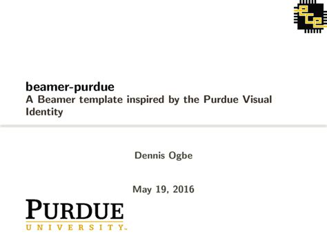beamer templates inspired by the official purdue
