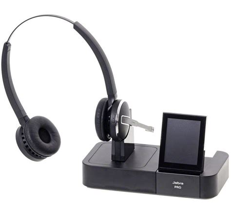 wireless headset for desk phone jabra pro 9460 duo wireless headset with touchscreen for