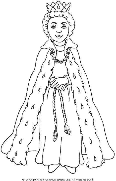 easy king and queen crown coloring pages