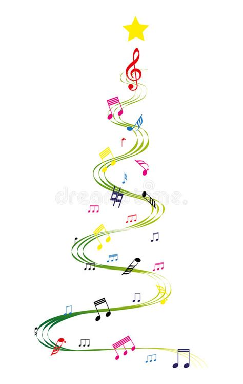 musical notes christmas tree image tree stock vector image of tune holidays 43903248
