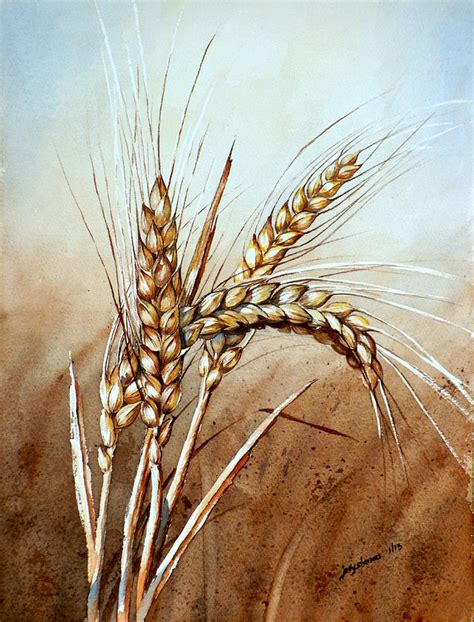 wheat stalk painting by jelly starnes