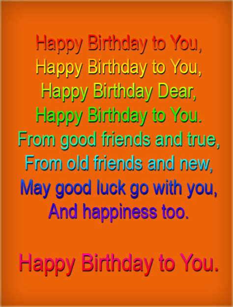 Birthday Song Quotes Happy Birthday Song Lyrics Gor 1st Birthday Google