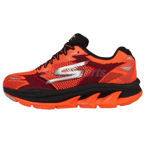 Skechers Ultra by Skechers Go Run Ultra R Road Orange Black Silver Mens