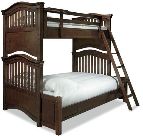 4 bed bunk bed classics cherry 4 0 smartstuff bunk bedroom set from smart