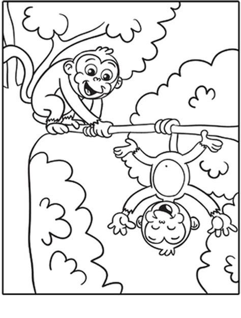 free printable monkey coloring pages bestappsforkids