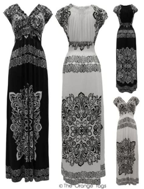 Get The Look Black White Floral Dresses For 100 by Dress Print Floral Paisley Summer Maxi Maxi