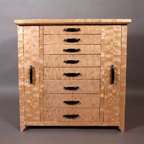Jewelry Storage Cabinet Quitled Maple Jewelry Cabinet With Necklace And Earring Storage
