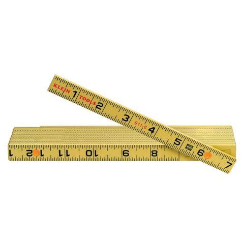 six foot folding klein tools 6 ft fiberglass folding ruler 911 6 the