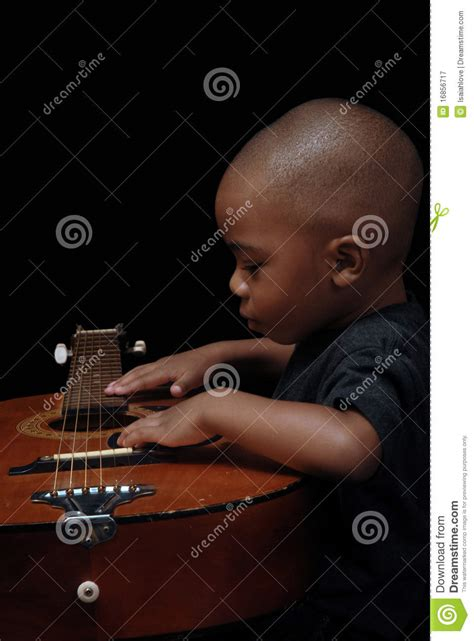 An American Play American Boy Play Guitar Royalty Free Stock Photography Image 16856717