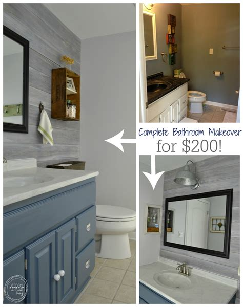 how to remodel a bathroom cheap vintage rustic industrial bathroom reveal budget