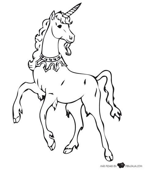 imagenes de unicornios con alas para colorear unicornio con collar dibujalia dibujos para colorear
