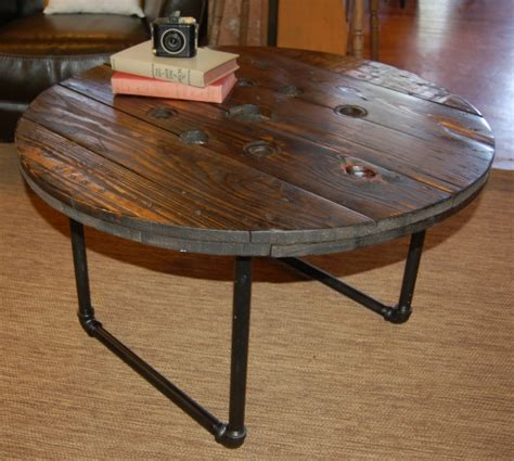 Spool Coffee Table by Yellow Chair Market 187 Spool Top Coffee Table
