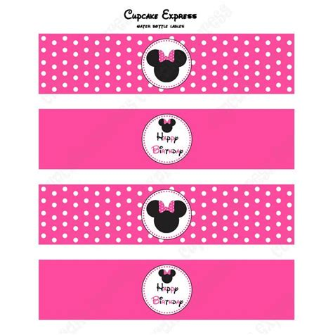 ransel mickey mouse pink 76 best printable water bottle labels images on