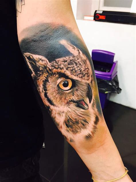 owl forearm tattoo 15 mysterious owl designs meanings awesome tat