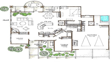 open floor plans 1 story space efficient house plans