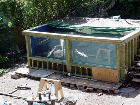 Build My House Online 8000 Gallon Plywood Aquarium Or Is It A Pond Questions