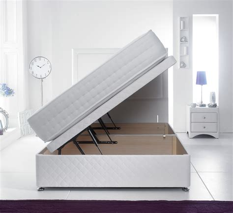 single ottoman bed side opening giltedge beds side opening 3ft single ottoman base white