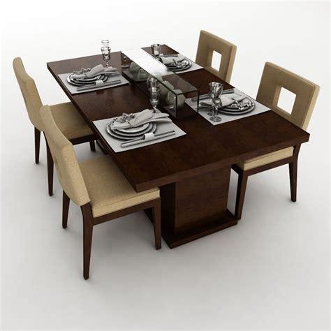 Dining Table Models Dining Table Set 23 3d Model Max Obj 3ds Fbx Mtl Cgtrader