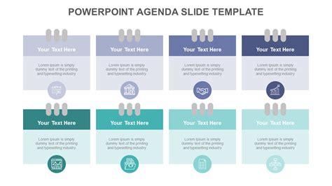 powerpoint agenda  template notepad slideegg