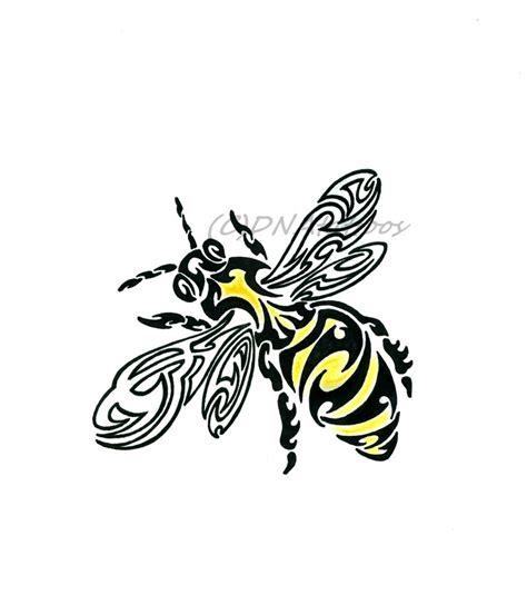 tribal bee tattoo tribal bee