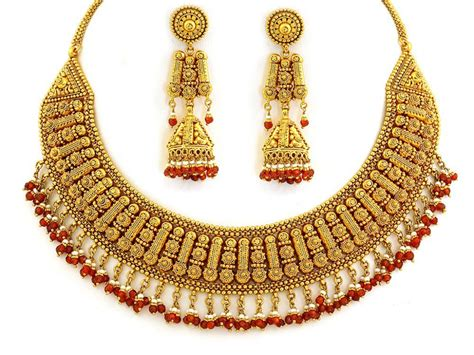 Gold Jewellery by Indian Gold Jewellery Gold Necklace Indian