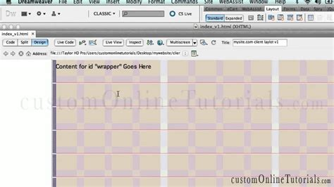 tutorial responsive dreamweaver cs6 dreamweaver cs6 tutorials cs5 fluid grid 960 responsive