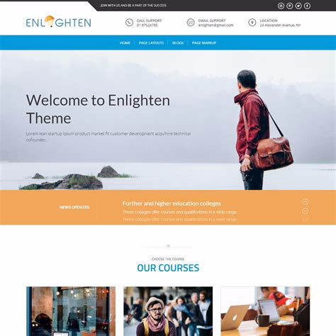 theme blogger education enlighten wordpress education thems themegrill blog
