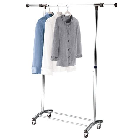 Big W Clothing Rack by Brushed Chrome Garment Rack The Container Store