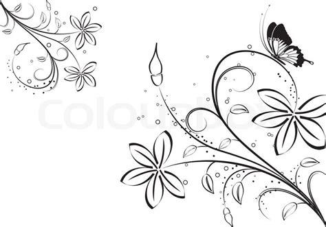 Vorlagen Florale Muster Floral Ornament Mit Schmetterling Element F 252 R Design Vektor Illustration Vektorgrafik